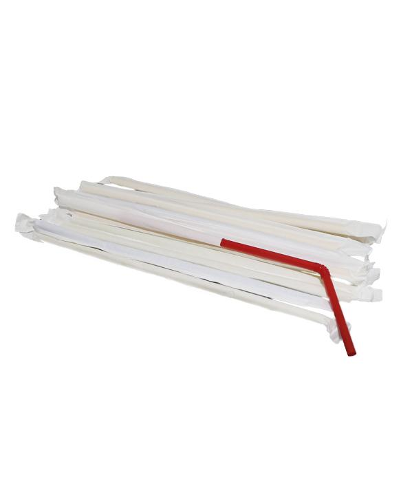 Straws with a corrugated bend wrapped