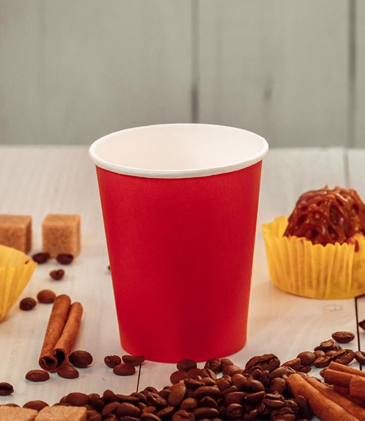 Red single-layer cup