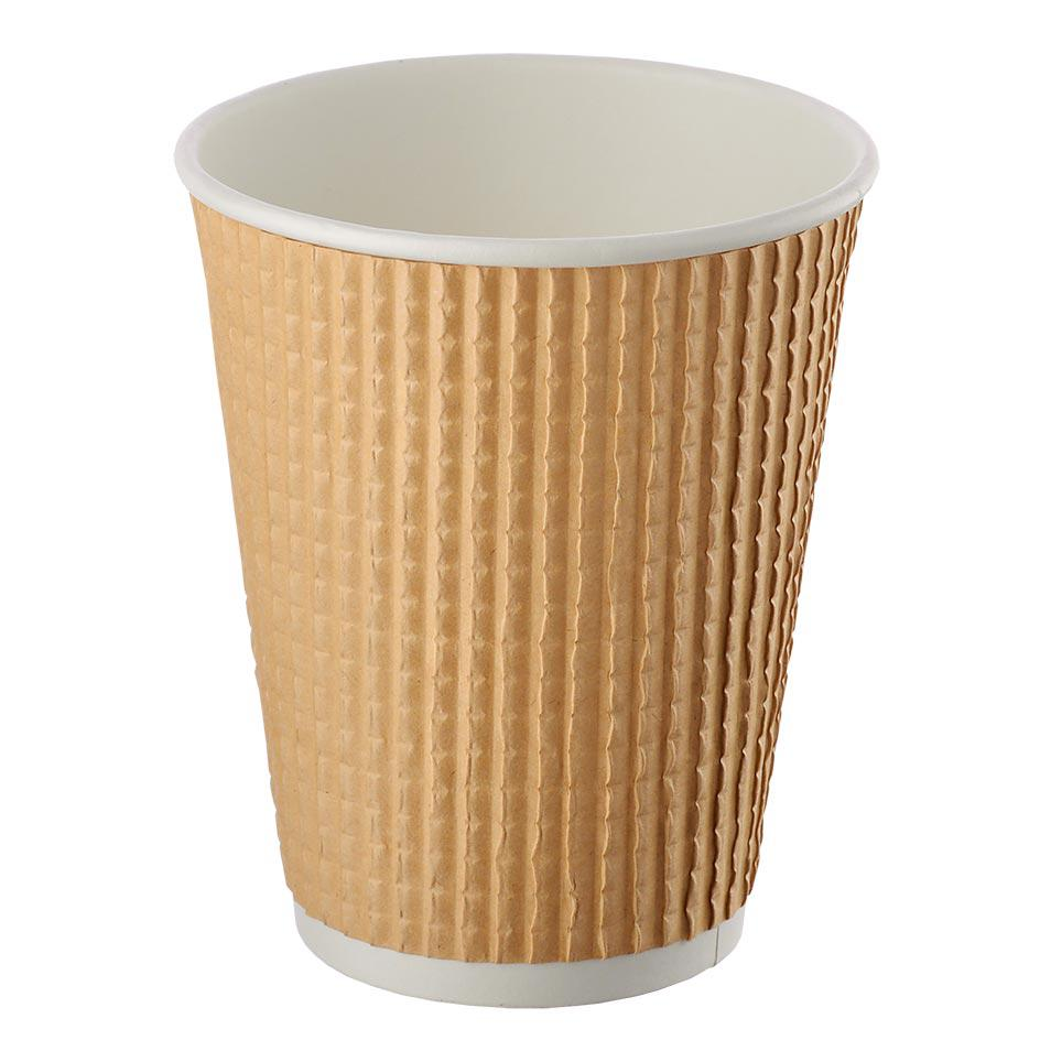 Three-layer corrugated cup kraft ripped