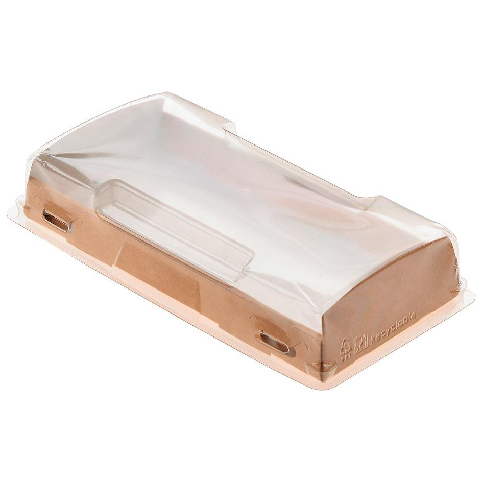 Packaging with a transparent cover