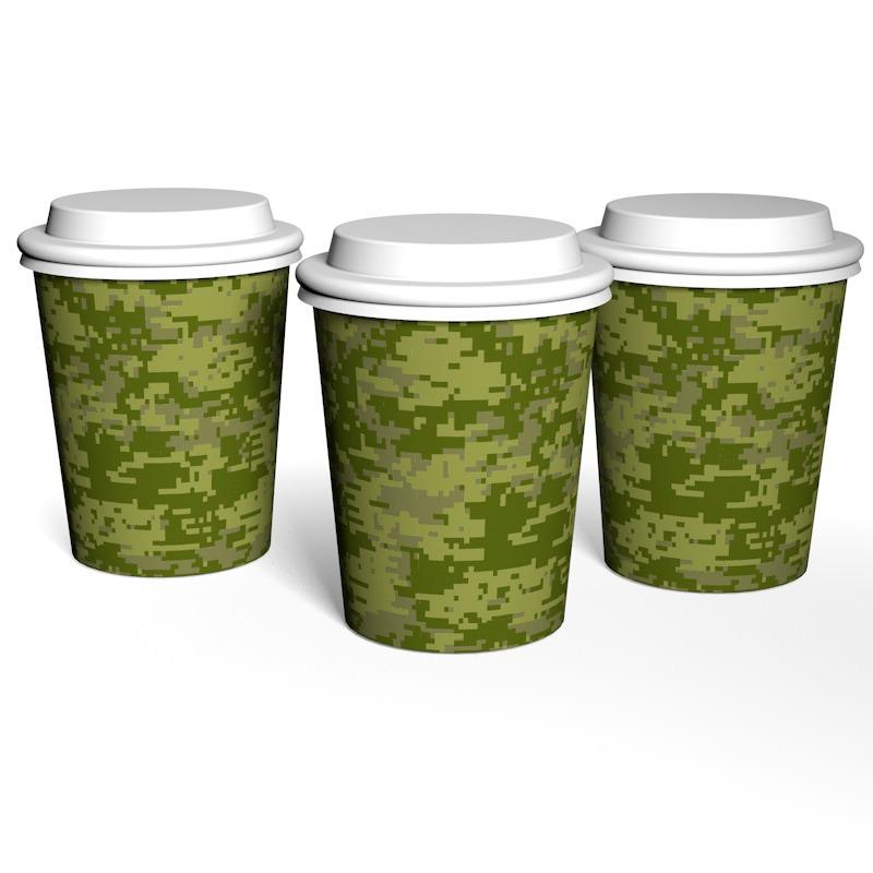 Single-layer cup camo