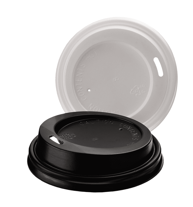 Lid for disposable cups with a diameter of mm (black, white)