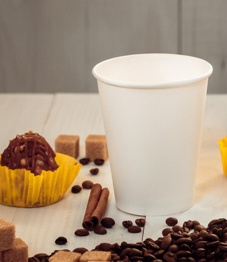 White single-layer cup