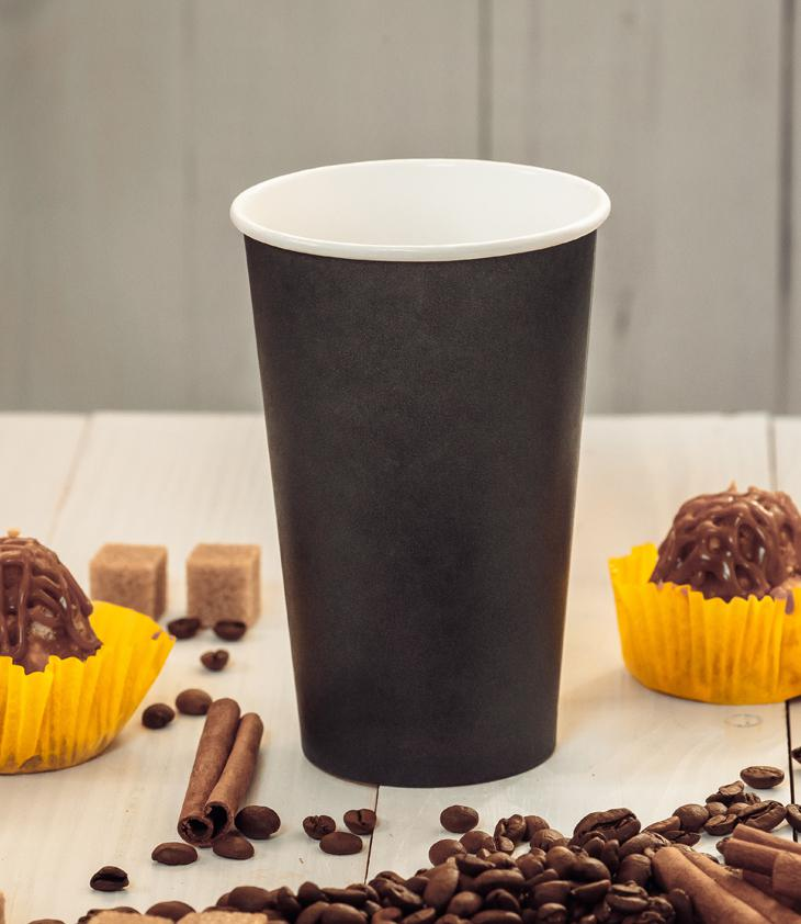 Black single-layer cup