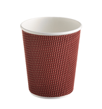 Three-layer corrugated cup maroon, 3D 1
