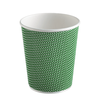 Three-layer corrugated cup green 2
