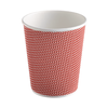 Buy the Three-layer corrugated paper cup red (250 ml) 2