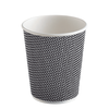 Buy the Three-layer corrugated paper cup black (250 ml) 2
