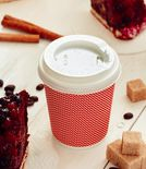 Three-layer corrugated cup red 1