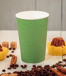 Three-layer corrugated cup green 1
