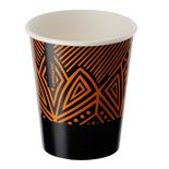 Single-layer cup black with orange pattern 1