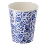 Single-layer cup white with a blue pattern 1
